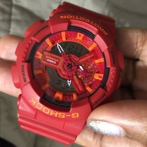 G- Shock Watch Men's - Digital and Analog - Red